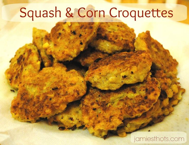 This Pin and Spin #recipe pairs summer #squash with #corn ...an amazing summer treat. Definitely try these squash  corn croquettes.