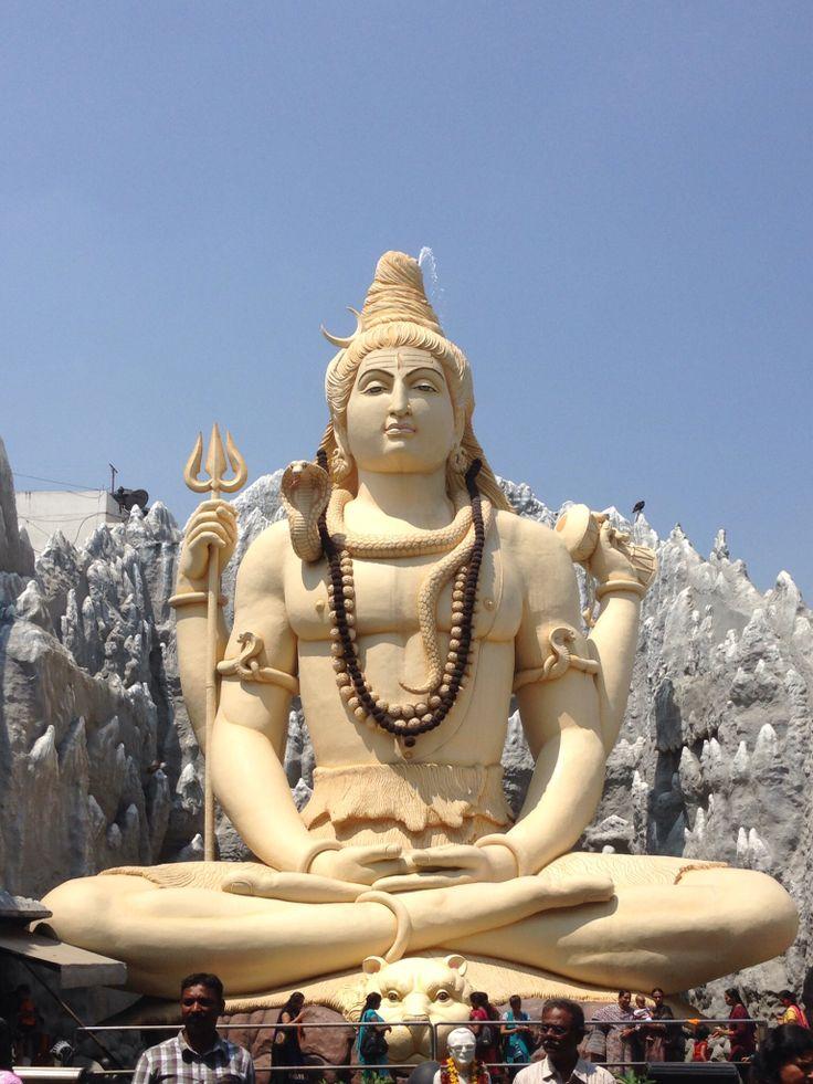 Bangalore, India. Shiva Temple Buddha statue, Statue