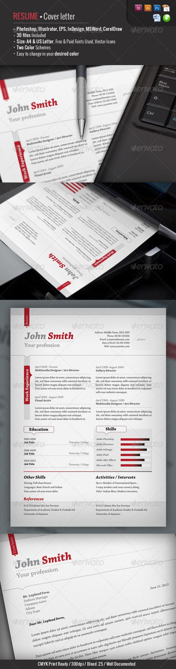 Standard Resume Font 30 Best Templates Images On Pinterest  Patterns Cob Loaf And .