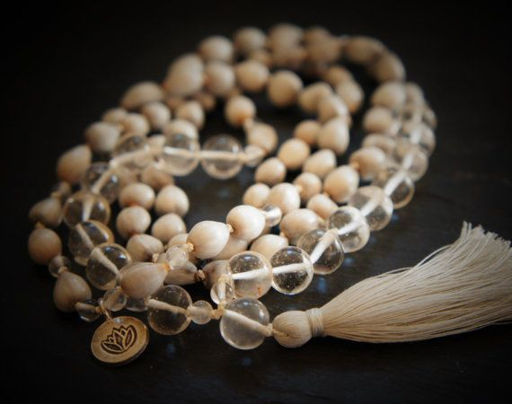 108 Sarhasrara Mala Yoga Necklace Himalayan Quartz by DakiniUK