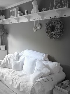 Simple gray & white. Peace & cleanliness.