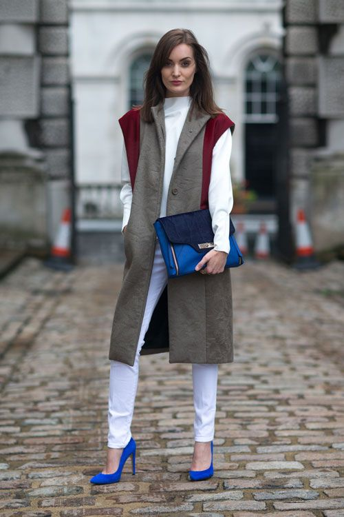 Love the blue. #LFW #streetstyle