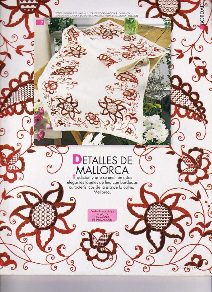 La Pollera de Panama: Bordado de Mallorca