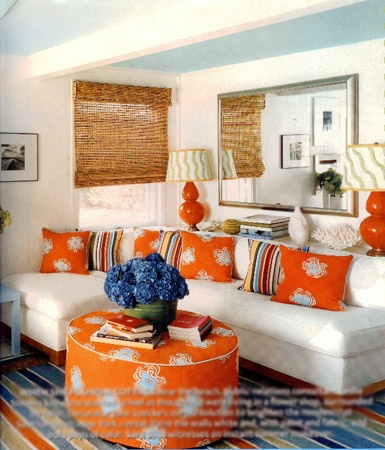 Orange and blue room home is where the heart is - Orange and blue living room ...