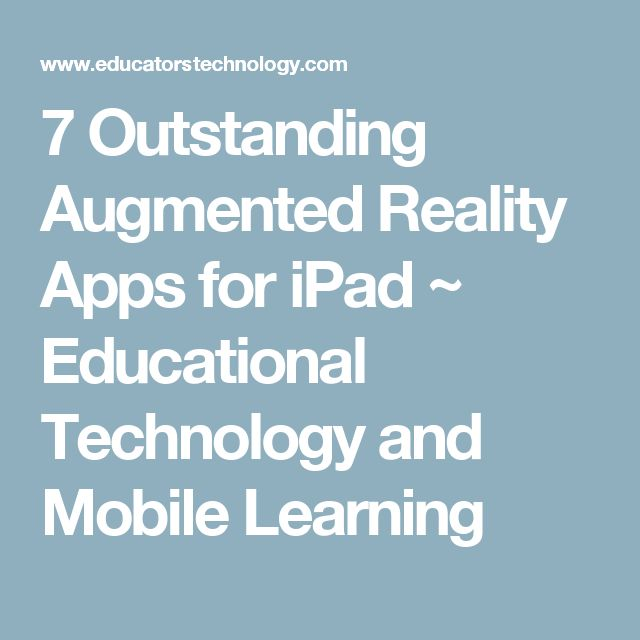 7 Outstanding Augmented Reality Apps for iPad ~ Educational Technology and Mobile Learning