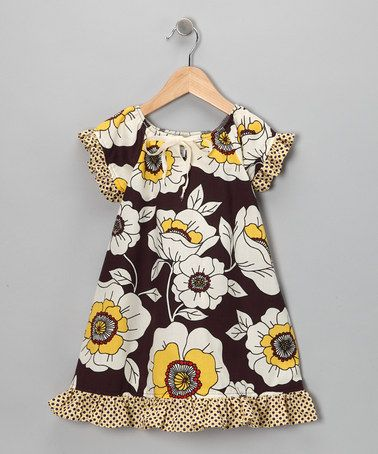 Take a look at this Eggplant & Yellow Ruffle Dress - Infant & Toddler by Right Bank Babies on #zulily today!