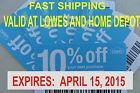 x10 COUPONs. Lowes 10% Off Home Purchase Depot. Exp April 15, 2015 - http://couponpinners.com/coupons/x10-coupons-lowes-10-off-home-purchase-depot-exp-april-15-2015/