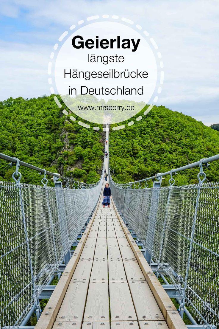Dei Geierlay Brücke im Hunsrück ist mit 360 Meter die längste Hängeseilbrücke in Deutschland. Wir haben sie als Tagesausflug von Köln mit Kind und Hund besucht. Absolut sehenswert! Tipps für deinen Besuch findest du auf http://www.mrsberry.de