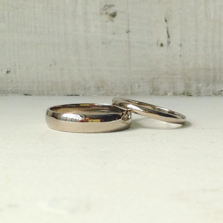 two 18ct white gold d shaped band made in one of our make your own wedding - Make Your Own Wedding Ring