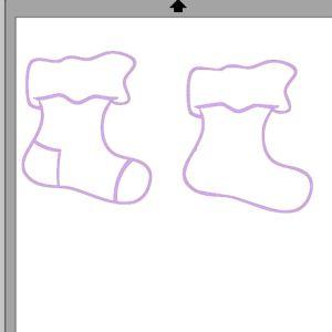 fichier sst ** chaussette de noel ** pour silhouette studio cameo