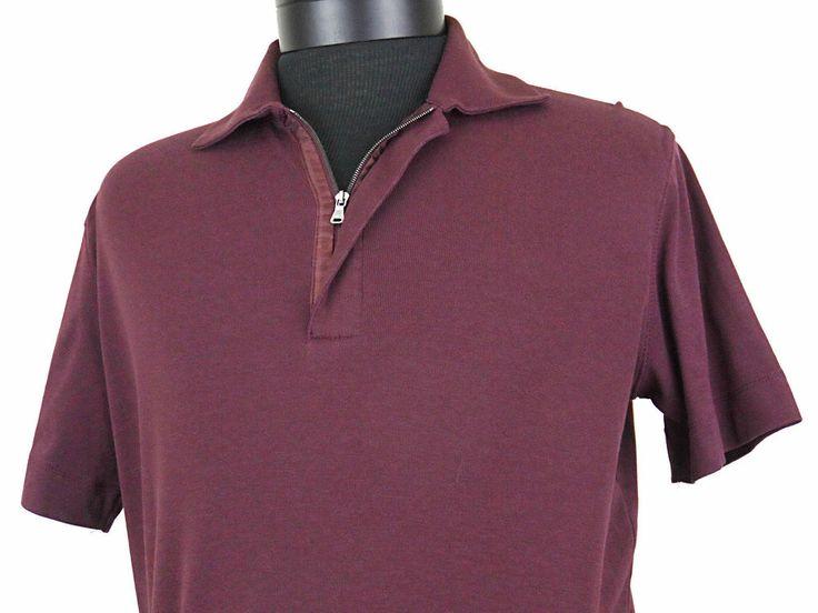 Hugo boss 1 4 zip polo shirt burgundy mens size medium for Shirts made in turkey