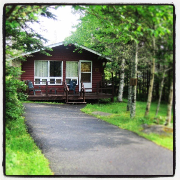 Rustic accommodations at #LiscombeLodge! #Nature #Cabins #Cottage #NovaScotia #Outdoors #Summer #VisitNovaScotia #PicOfTheDay