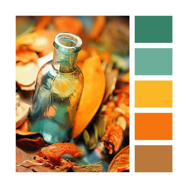 Palette de couleurs automnales