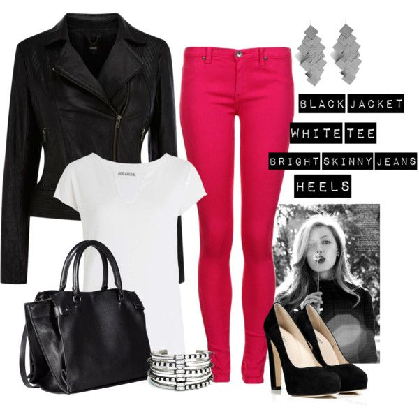 Love the colored jeans! Check out her site, there is an outfit with a taupe and mint color jeans for more inspiration!