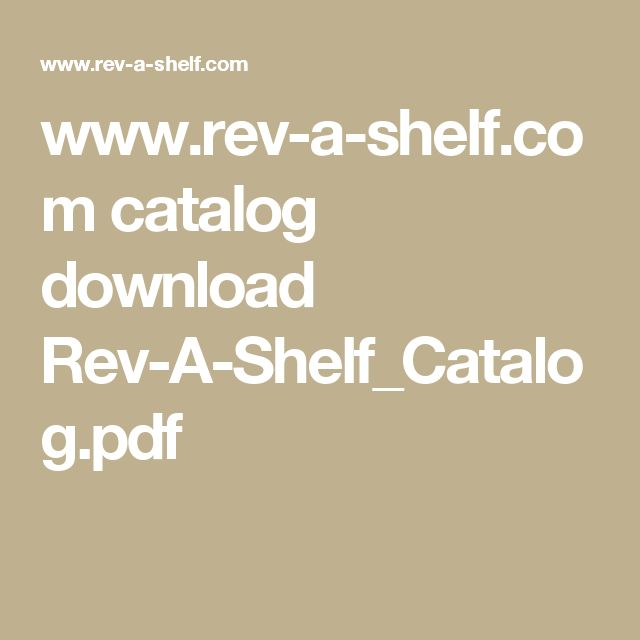 www.rev-a-shelf.com catalog download Rev-A-Shelf_Catalog.pdf