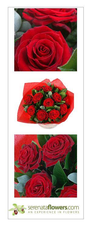 """A dozen red roses"" flower bouquet, #romantic #flowers #love #roses"