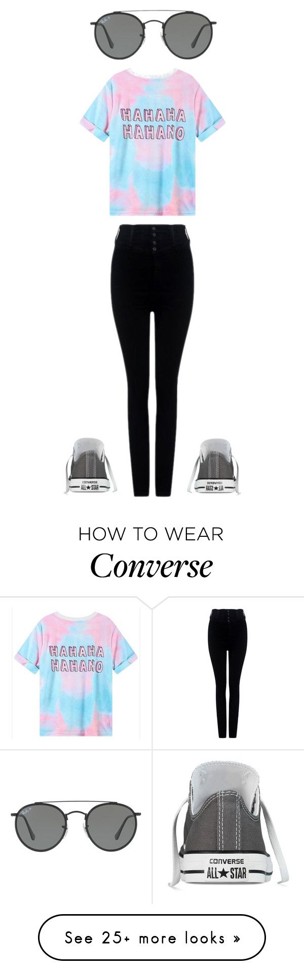 """ignore for drawing"" by xx-secret-xx on Polyvore featuring Ray-Ban, Citizens of Humanity and Converse"