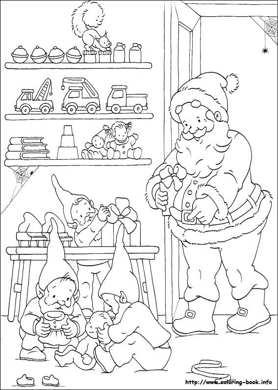 hundreds of free Christmas coloring pictures
