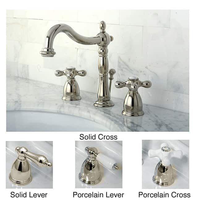Kingston Polished Nickel Widespread Bathroom Faucet