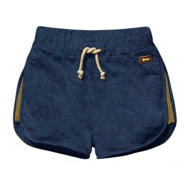 Jeansblauw short met gouden zijnaad - Mister Monkey and Misses Butterfly - Stones and Bones - Maat 92 tem Maat 128 - Meisjes - SS16