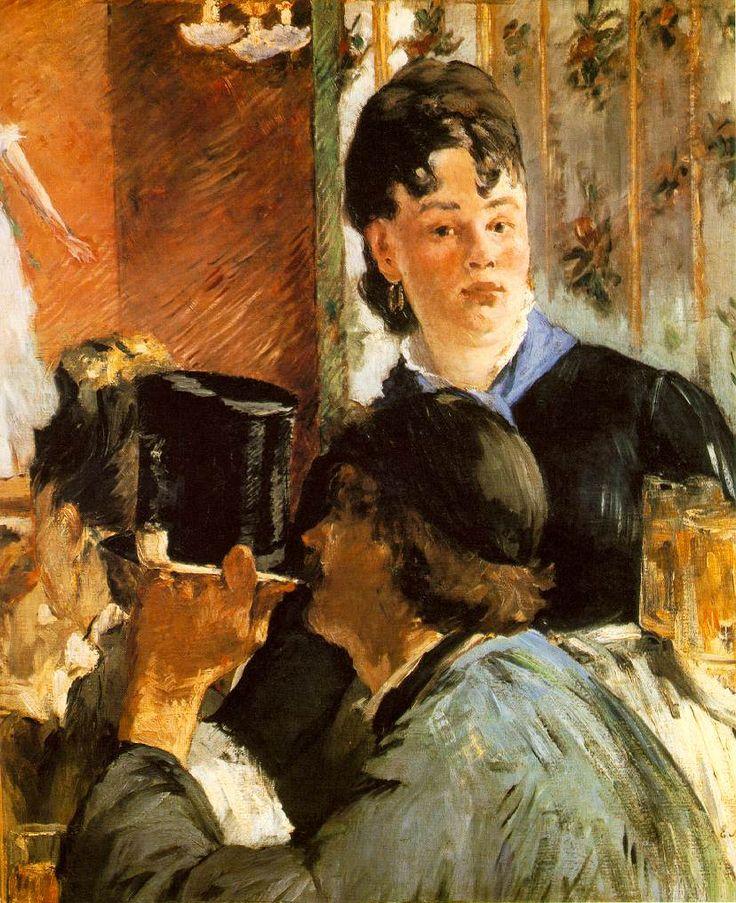 Edourd Manet. Le Serveuse de bocks (The Waitress), 1879.