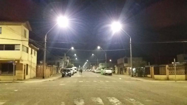 Proyecto Mejillones de Alumbrado Público LED. Brisa LED #iluminación #LED #lights #ledlight