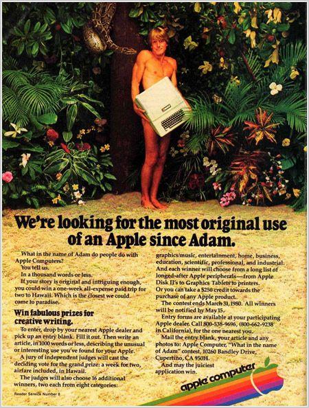 gingeroftheweb:  Vintage Apple Advertisement Source
