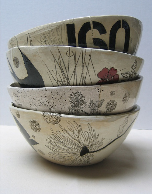 ceramic art bowls