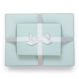 Reversible Wrapping Paper, Pool Blue