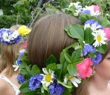 http://linda-bliss.hubpages.com/hub/Swedish-Traditions-The-Swedish-Midsummer-Party-the-food-songs-dances-and-the-midsummer-pole
