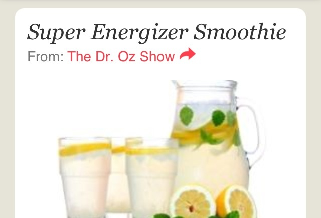 Great energy  drink for anyone from dr.oz