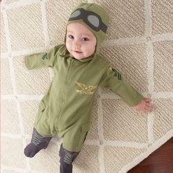 mobile site-retail 2013 new autumn suit,newborn baby clothing,toddler boy clothes,children pilot romper,infant long sleeve jumpsuit+hat