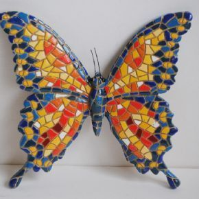 Hand Painted Small Wall Hanging Butterfly Ornament Which Adds Sparkle To  Any Collection
