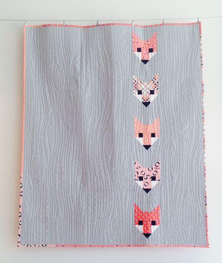 Lisa's version of Elizabeth Hartman's Fancy Fox quilt.