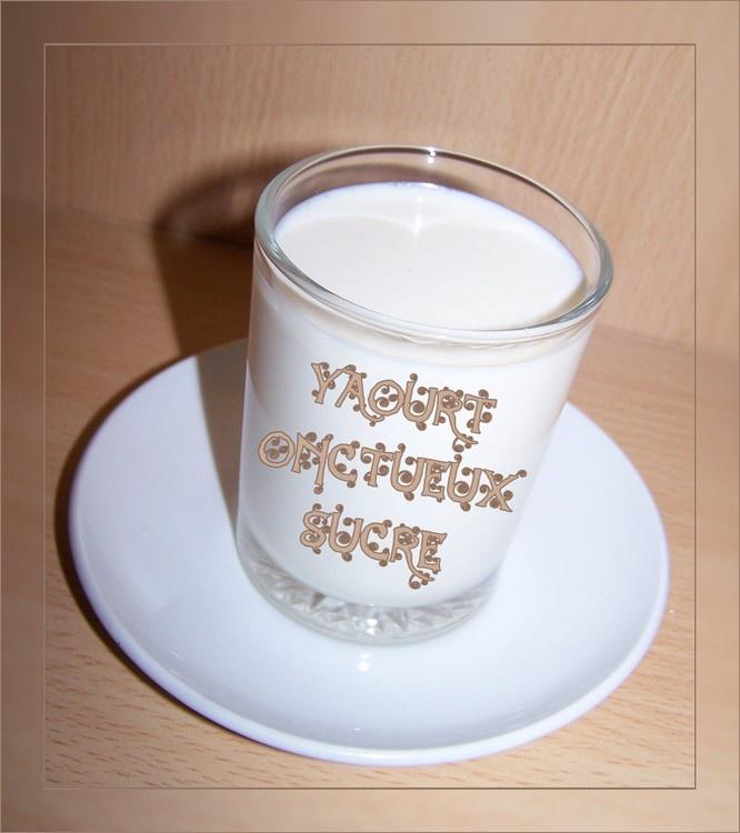 Yaourt onctueux sucré (au lait concentré sucré bio et fait maison)