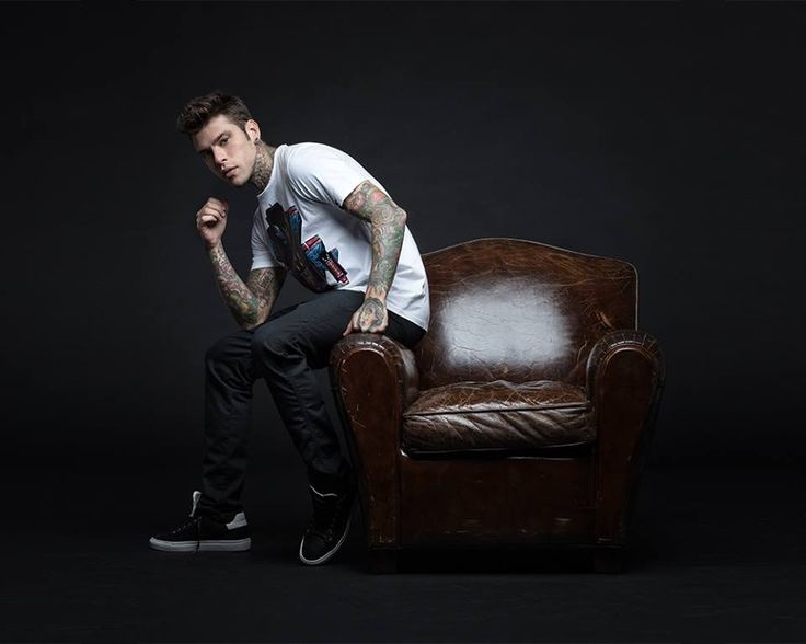 Fedez strikes a pose in his NoGodz capsule collection for Replay.