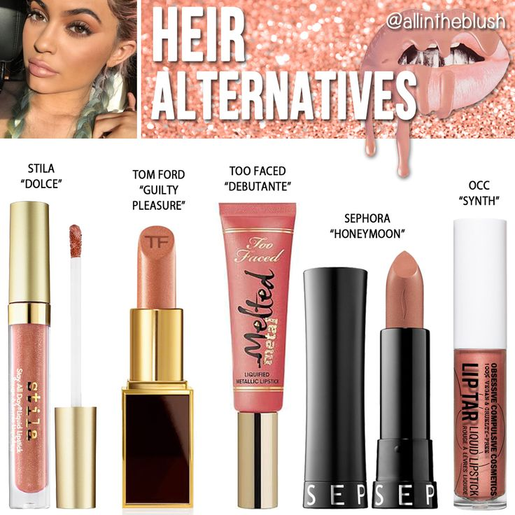 Kylie Jenner Heir Lipstick Alternatives