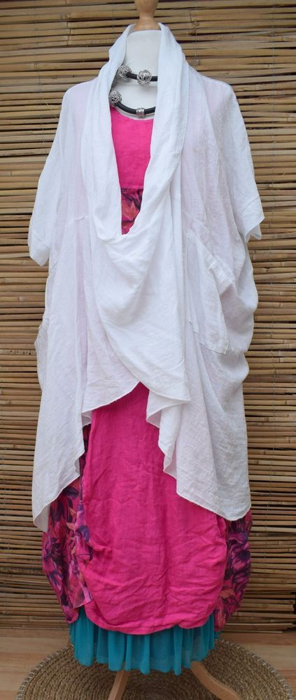 LAGENLOOK COTTON OVERSIZED BATWING 2 POCKETS LONG TUNIC/PONCHO*WHITE*XL-XXL-XXXL | Clothes, Shoes & Accessories, Women's Clothing, Tops & Shirts | eBay!