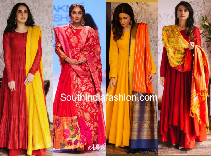 Indian designer Gaurang Shah gives us major inspiration on how to wear the traditional anarkali suit designs. So today we bring you traditional anarkali suit designs like anarkali with kanjivaram dupatta, salwar kameez with pattu chunni, designer anarkali with banarasi dupatta, ikat pattu dresses etc..