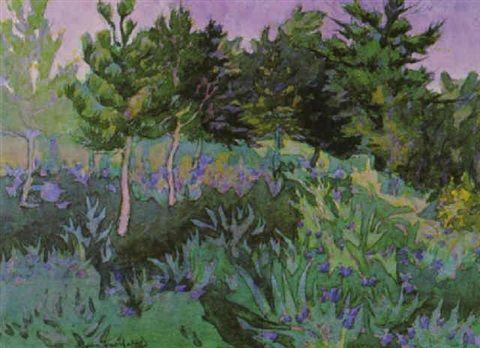 Grove of Trees  watercolour Eric Freifeld