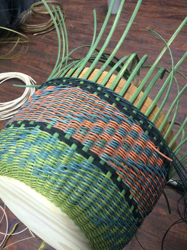 Basket Weaving Star Pattern : Best round reed baskets images on basket