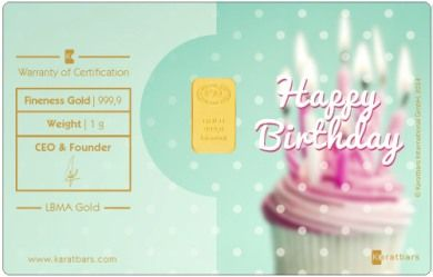 Happy Birthday 1 gram gold card