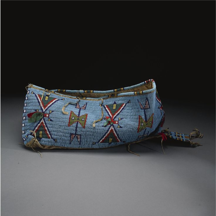 Sioux Beaded Hide Cradle Cover.
