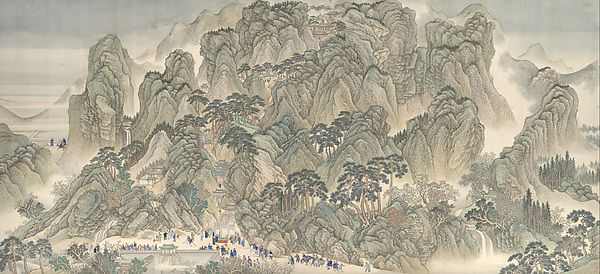 Wang Hui (Chinese, 1632) and assistants. 清 王翬 等 康熙南巡圖 (卷三: 濟南至泰山) 卷 The Kangxi Emperor's Southern Inspection Tour, Scroll Three: Ji'nan to Mount Tai, dateable to 1698. Qing Dynasty (1644-1911). The Metropolitan Museum of Art, New York. Purchase, The Dillon Fund Gift, 1979 (1979.5a-d)