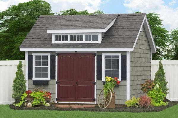 E50 14032 10x14 Premier Garden Shed With Cedar Impressions Siding Gardenshedplans Shed Plans 10x10 Shed Plans Garden Storage Shed