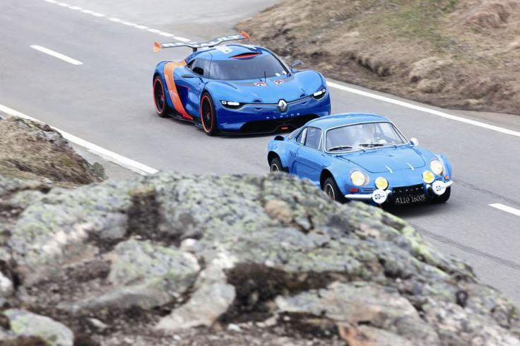 Le concept-car Alpine A110-50, ici dans les roues de la célébrissime Berlinette A 110, avait été présenté en 2012. Photo Renault