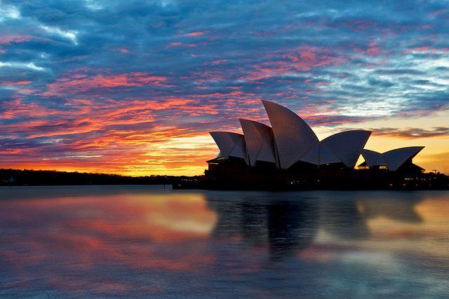 'Iconic Reflection' Sunrise by the Sydney Opera House: Sydney, Australia #modelcolovesaus