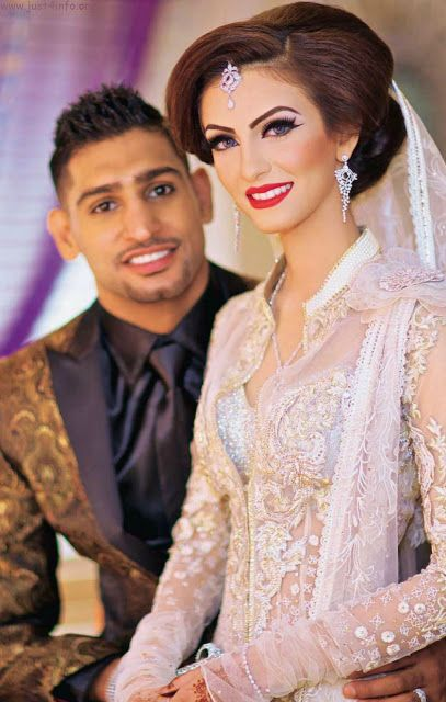 Amir Khan and Faryal Makhdoom Walima Pictures | Be sure to click through for more pictures of their gorgeous wedding outfits!