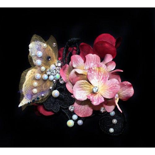 Fairy Hair Flowers Fascinator #accessories #fashion #headpiece #fascinator #headdress #hairstyle #wedding #bridal #crystals #glamour #chic #millinery #romantic #fantasy #shop #hats #flowers #swarovski #weddingheadpiece #collection #fairy #weddings #look