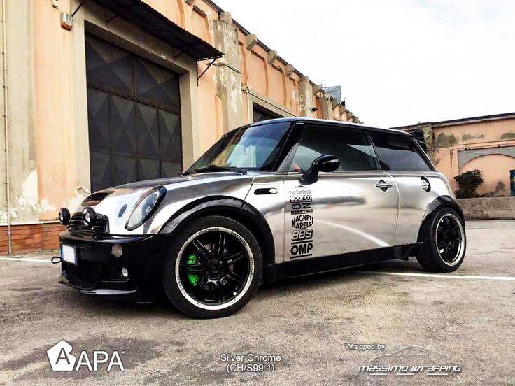 Silver Chrome (CH/S99.1): il brillante riflesso dell'unicità. Silver Chrome (CH/S99.1): the brillant reflection of uniqueness. #selfadhesive #apastickers #apafilms #apafolie #apavinyl #silverchrome #chromeeffect #glosschrome #chromevinyl #carfoil #carwrap #carwrapping #ilw #ilovewrapping #apainside
